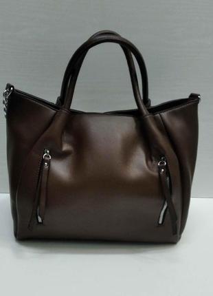 Женская сумка (коричневая ) 21-09-030