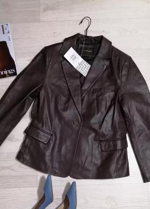 Mac douglas кожаная куртка-пиджак