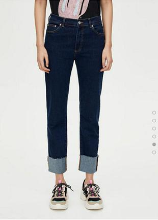Прямые базовые джинсы с подворотами, прямые джинсы, джинсы regular