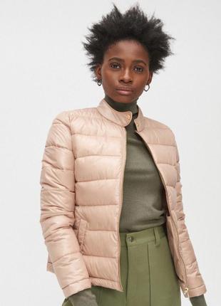 Куртка демисезонная женская светлая бежевая пудровая