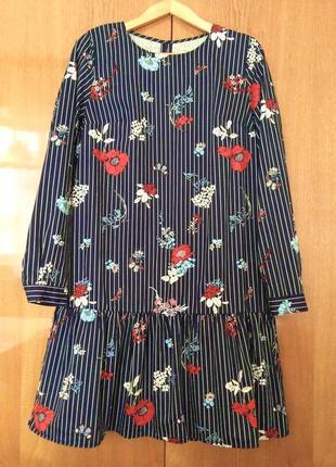 Платье котоновое в цветочный принт