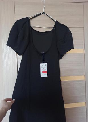Черное платье зара с открытой спиной zara