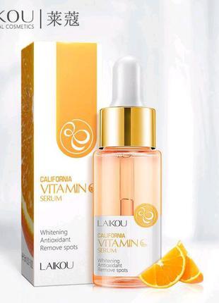 Осветляющая сыворотка для лица с витамином с laikou california vitamin c serum