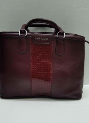 Женская сумка (бордовая) 21-09-031