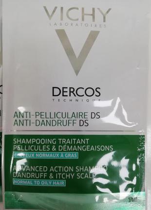 Шампунь зразки  dercos vichy від лупи по 6ml