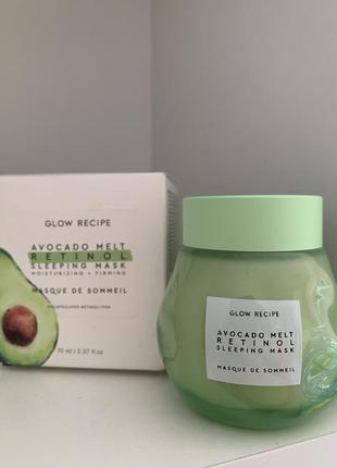 Ночная маска для лица glow recipe avocado melt retinol sleeping mask