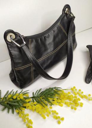 Кожаная сумка багет от mercedes-bens