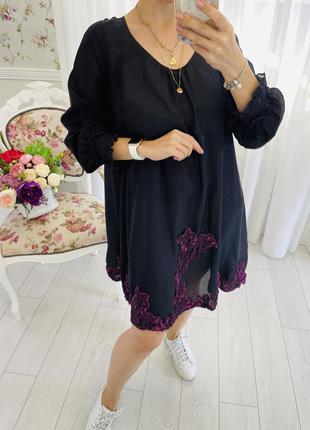 Ermanno scervino платье из 100% шёлка