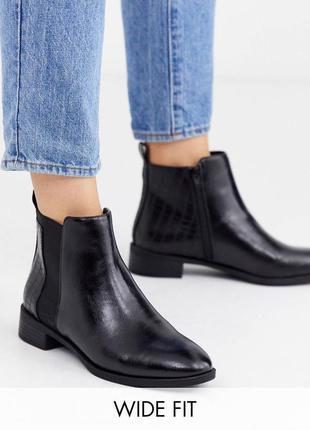 Ботинки ботильйони сапоги сапожки челси для екстраширокой стопи