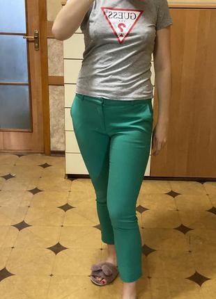 Классические зеленые штаны 36р