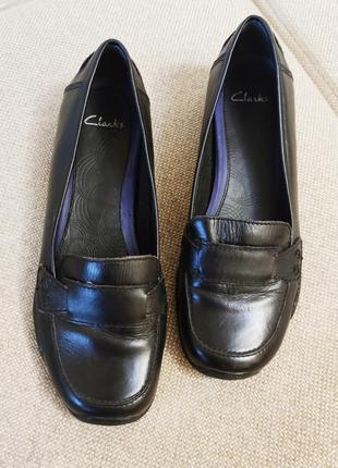 Кожаные туфли мокасины 41 42 по стельке 27 clarks туфлі