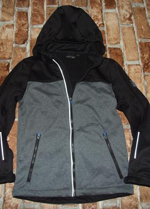 Куртка кофта мальчику софт шелл softshell 10 лет на флисе