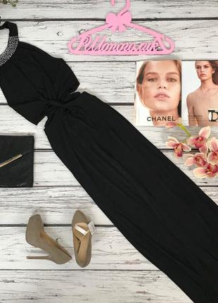 Утонченное вечернее платье в пол с декоративным узлом  dr50169