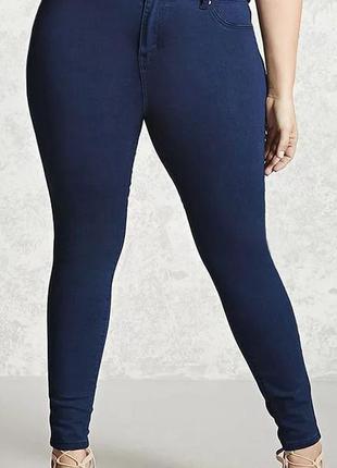 Мегаклассные стрейчевые джинсы скини на пышные формы simply be...