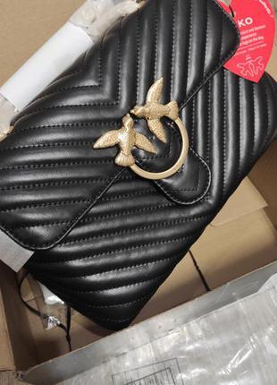 Кожаная сумка в стиле pinko