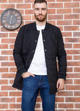 Куртка мужская стеганая демисезонная цвет черный