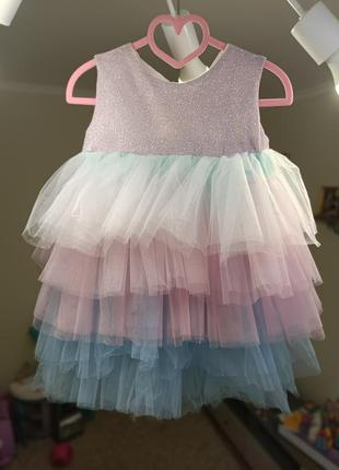 Платье радуга для принцессы