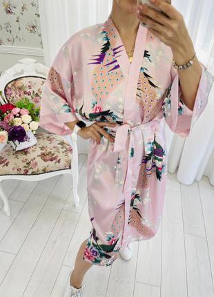 Халат кимоно из натурального шёлка oriental village