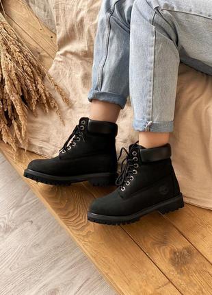 Мужские / женские ботинки timberland 6 inch premium «без меха» 💐