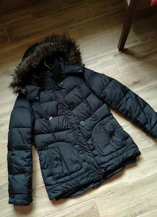 Демосезонная куртка укороченная пуховик размер 38