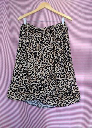 Спідниця принт леопардовий юбка