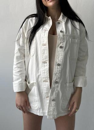 Джинсовая удлиненная курточка oversize от topshop