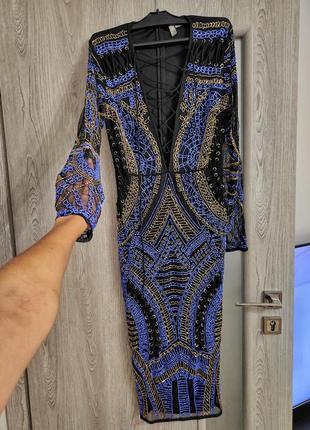 Роскошное вечернее платье в бисер asos
