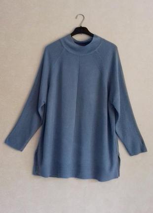 Мягкий длинный джемпер / свитер / кофта свободная