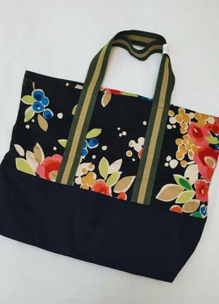 Шопер сумка текстильная с принтом цветы boden