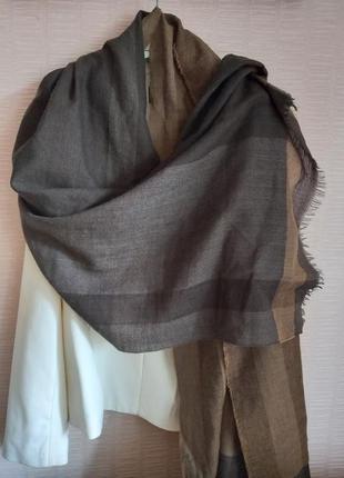Огромный шарф,  палантин,  100% шерсть, massimo  dutti