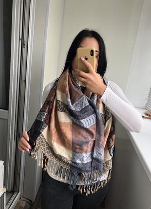 Шикарный шарф шарфик с оленями