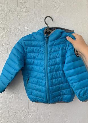 Куртка reseved 98 cм ярко голубая