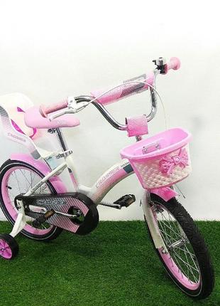 Детский велосипед двухколесный crosser kids bike розовый для девочки