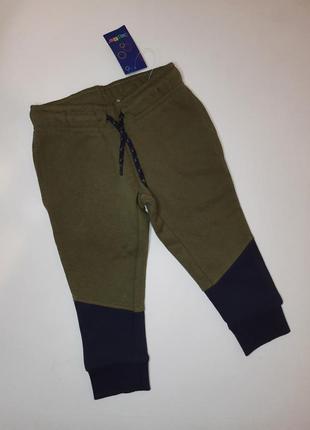 Штаны тёплые спортивные джоггеры джогеры флис на мальчика 86-92 lupilu штани джогери утеплені теплі фліс на хлопчика