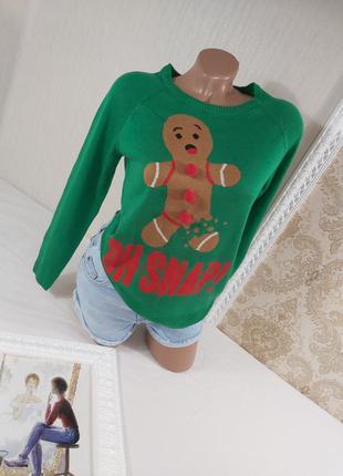 Шикарный новогодний свитер джемпер