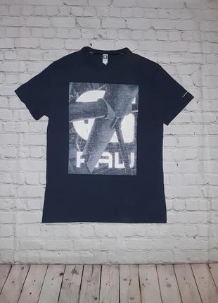 Мужская серая футболка g-star raw с большим лого