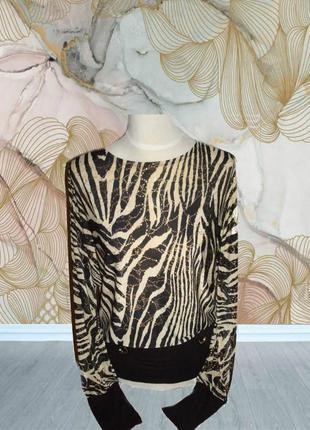 🌹🌹нарядная красивая блузка блузон кофточка в принт летучая мышь без пояса 🌹🌹