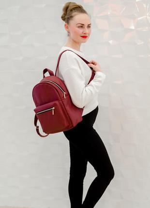 Бордовый классический школьный рюкзак для подростка, тренд 2021