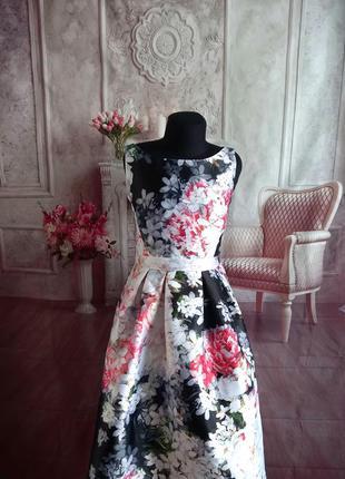Мега стильное нарядное платье миди с карманами