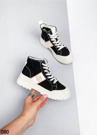 Ботинки кеды с логотипом