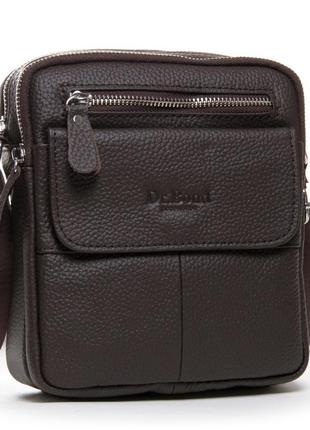 Кожаная мужская сумка-планшет dr.bond. два отделения
