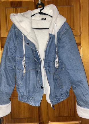 Утеплённая джинсовая куртка