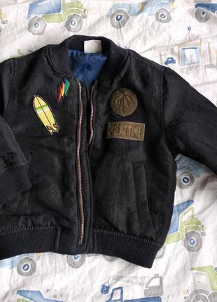 Куртка на мальчика бомбер демисезон 1-1.5 года весна осень