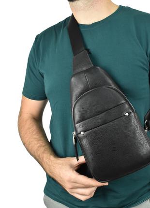 Мужская кожаная сумка на плечо, барсетка magicbag черная