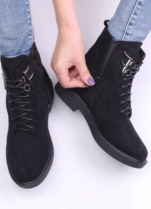 Ботинки женские на шнуровке (333962) / 100659