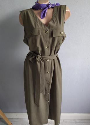Стильное платье - халат на пуговицах, primark