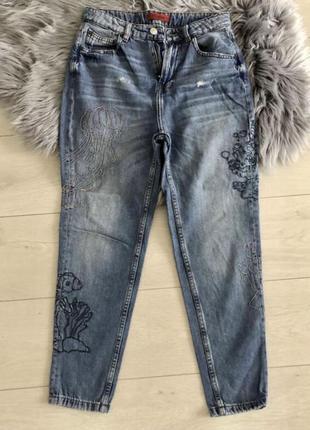 Женские джинсы момы от pull&bear размер с высокая посадка