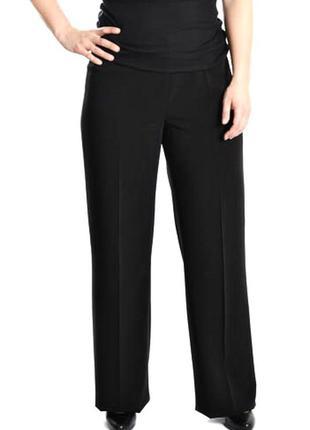 Качественные брюки широкие трубы высокий рост классика