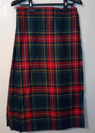 Классический шотландский килт шерстяная юбка