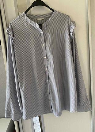 Рубашка в мелкую полоску большого размера